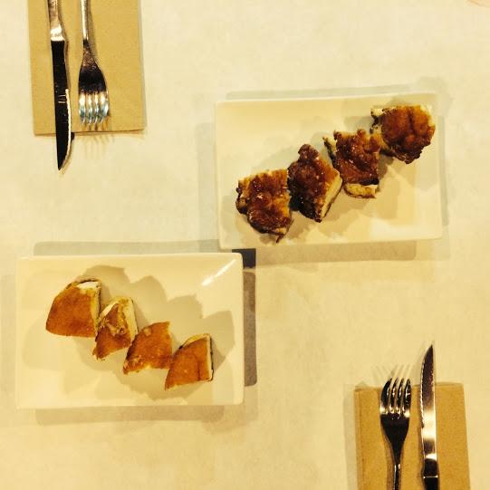 Maple / Vanilla Bacon (bottom left) & Apple Fritter / Vanilla (top right)
